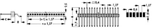 Stiftleiste (Präzision) Anzahl Reihen: 1 Polzahl je Reihe: 20 Fischer Elektronik SLV W 3 SMD 048 20 Z 1 St.