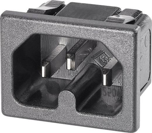 Warmgeräte-Steckverbinder C16 Serie (Netzsteckverbinder) 42R Stecker, Einbau vertikal Gesamtpolzahl: 2 10 A Schwarz K &