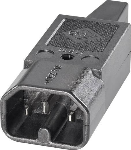 Warmgeräte-Steckverbinder 42R Serie (Netzsteckverbinder) 42R Stecker, gerade Gesamtpolzahl: 2 + PE 10 A Schwarz K & B 42