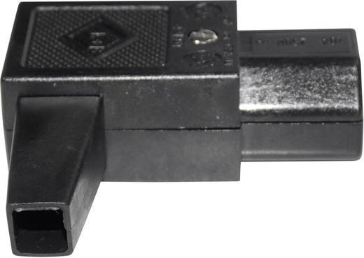 Warmgeräte-Steckverbinder 43R Serie (Netzsteckverbinder) 43R Buchse, gewinkelt Gesamtpolzahl: 2 + PE 10 A Schwarz K & B