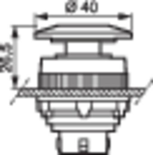 Pilztaster Frontring Kunststoff, verchromt, glänzend Rot BACO T11AD01 1 St.