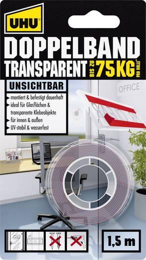Doppelseitiges Klebeband UHU® Transparent (L x B) 1.5 m x 19 mm UHU 45375 1 Rolle(n)