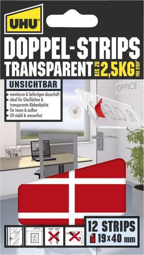 UHU 45515 Doppelseitiges Klebeband UHU® Transparent (L x B) 40 mm x 19 mm 12 St.