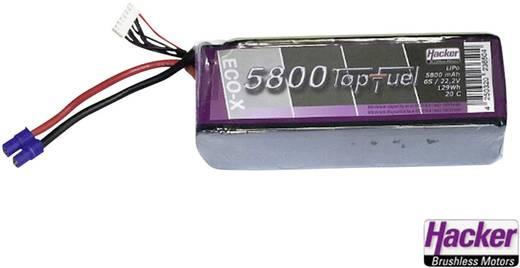Modellbau-Akkupack (LiPo) 7.4 V 5800 mAh 20 C Hacker Softcase EC5