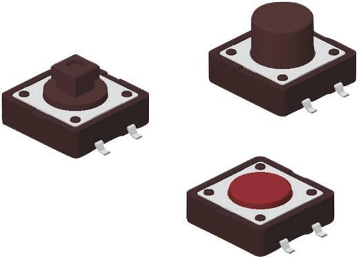 Drucktaster 12 V/DC 0.05 A 1 x Aus/(Ein) Diptronics DTSM-24R-V-T/R tastend 500 St.