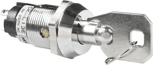 Schlüsselschalter 250 V/AC 3 A 1 x Ein/Aus/Ein 2 x 45 ° NKK Switches CKL13EFW01 1 St.