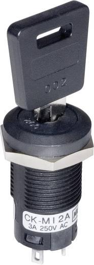 Schlüsselschalter 250 V/AC 3 A 1 x Ein/Ein 1 x 90 ° NKK Switches CKM12BFW01 1 St.