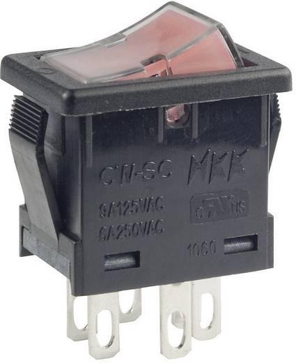 Wippschalter 250 V/AC 6 A 2 x Aus/Ein NKK Switches CWSC21JFAFS rastend 1 St.