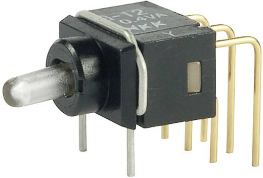 NKK Switches G22AP Kippschalter 28 V DC/AC 0.1 A 2 x Ein/Ein rastend 1 St.