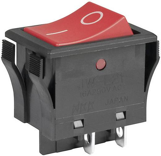 Wippschalter 250 V/AC 10 A 2 x Aus/Ein NKK Switches JWL21RAA/UC rastend 1 St.
