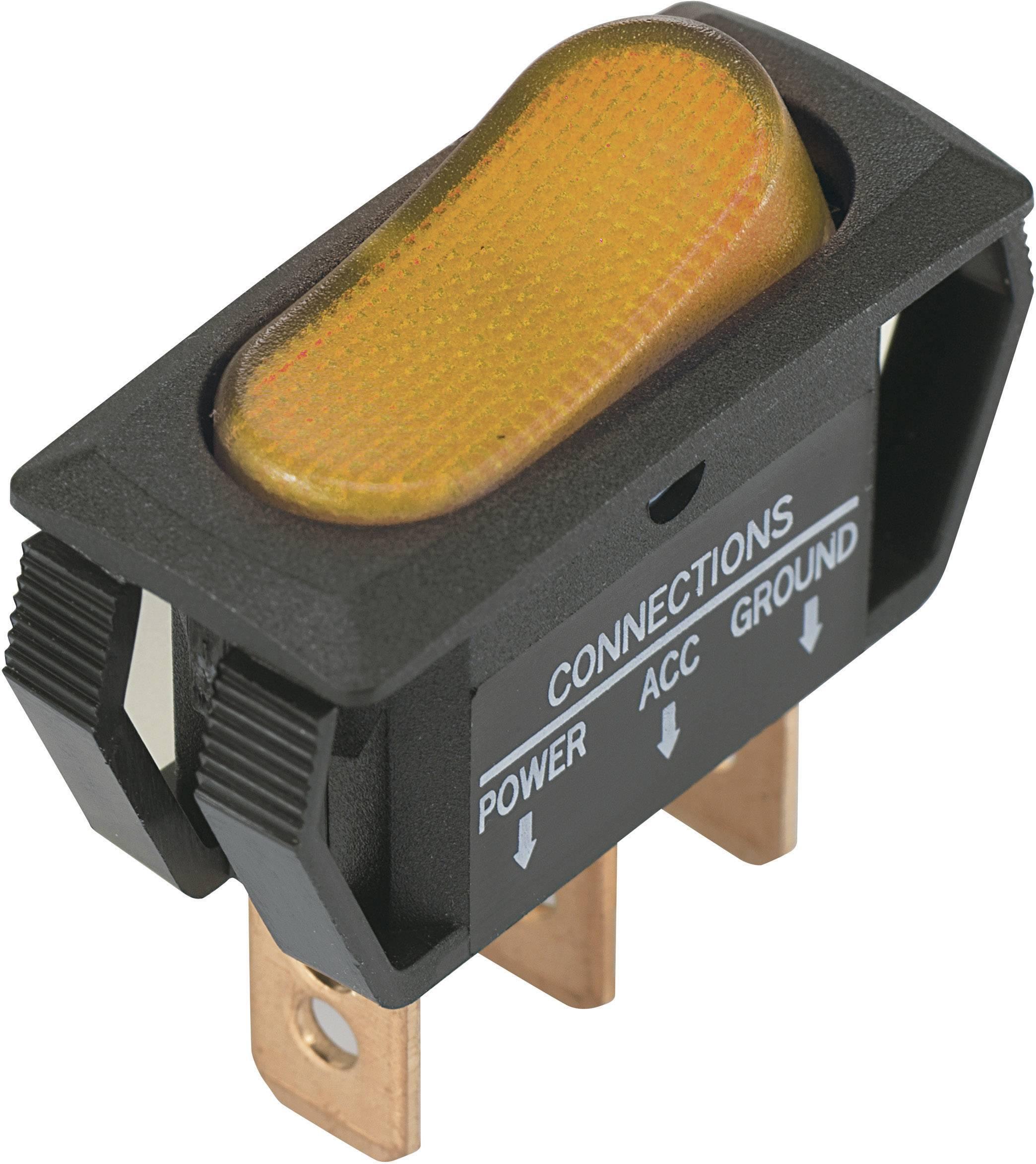 TRU Components Wippschalter TC-R13-66B2-02 B//B 12 V//DC 16A 1 x Aus//Ein rastend