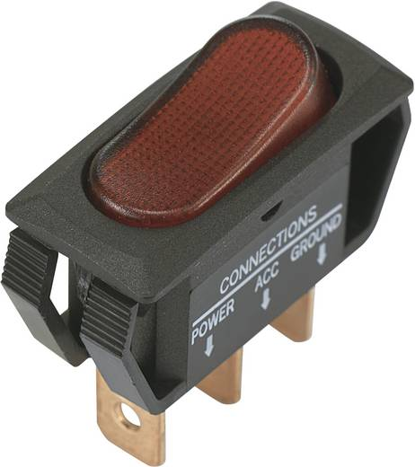 Wippschalter 12 V/DC 25 A 1 x Aus/Ein SCI R13-242B2 rastend 1 St.