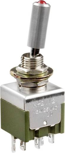 Kippschalter 250 V/AC 3 A 1 x Ein/Aus/Ein NKK Switches M2113TFW01 rastend/0/rastend 1 St.