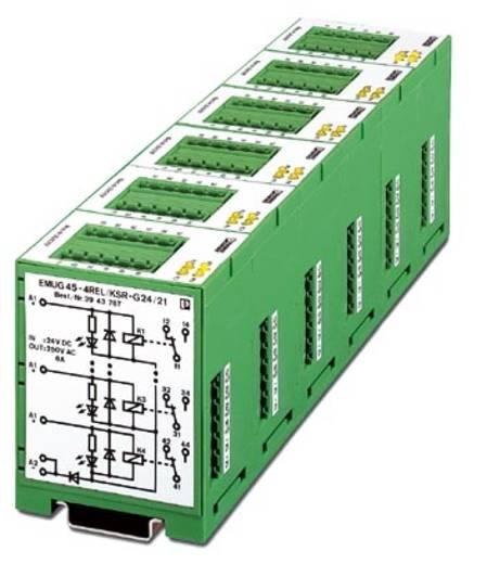 Relaisbaustein 5 St. Phoenix Contact EMUG 45- 4REL/KSR-G 24/21 Nennspannung: 24 V/DC Schaltstrom (max.): 6 A 1 Wechsler