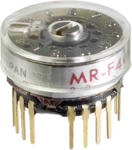 Drehschalter 125 V/AC 0.25 A Schaltpositionen 6 1 x 30 ° NKK Switches MRF206 1 St.
