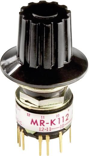 Drehschalter 125 V/AC 0.25 A Schaltpositionen 12 1 x 30 ° NKK Switches MRK112-A 1 St.