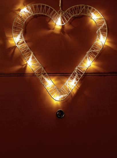 Polarlite 709660 Türkranz mit Beleuchtung Herz