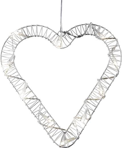 Fenster-Dekoration Herz Warm-Weiß LED Polarlite 709660 Weiß