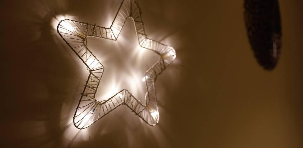 Polarlite 709661 Türkranz mit Beleuchtung Stern