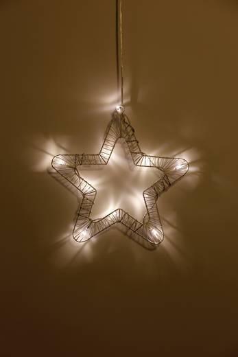 Fenster-Dekoration Stern Warm-Weiß LED Polarlite 709661 Weiß