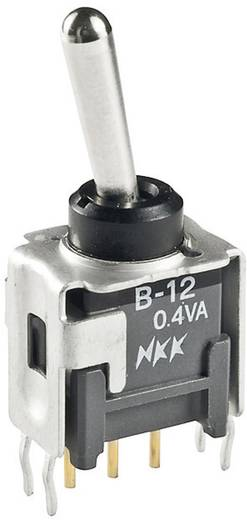 Kippschalter 28 V/DC 0.1 A 1 x Ein/Aus/(Ein) NKK Switches B19AP rastend/0/tastend 1 St.