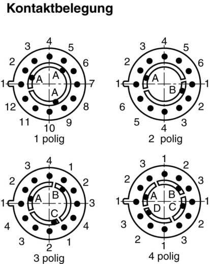 Stufenschalter 250 V/AC 0.15 A Schaltpositionen 4 4 x 30 ° Lorlin CK-1031 1 St.