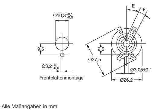 Lorlin Stufenschalter 250 V/AC für Printmontage CK-1050