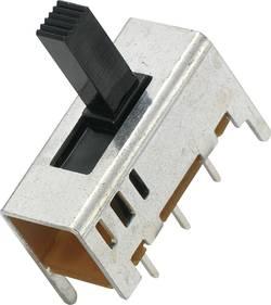 Interrupteur à glissière 709837 2 x On/On 1 pc(s)