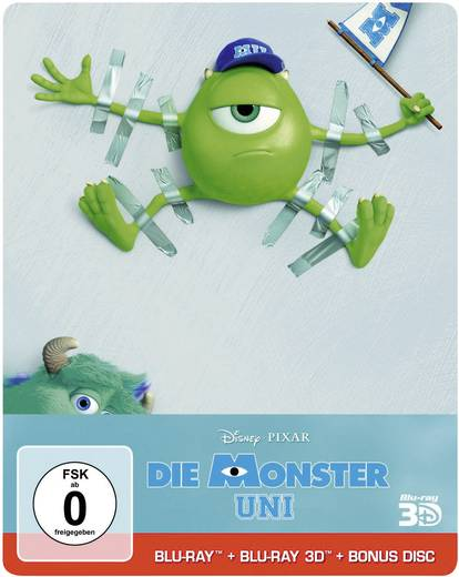 blu-ray 3D Die Monster Uni (Steelbook inkl. 2D Blu-ray & Bonusdisc) - Limited Edition FSK: 6