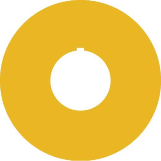 Bezeichnungsschild (Ø) 40 mm NOT-HALT,EMERGENCY STOP,ARRET D´URGENCE,EMERGENZA Gelb RAFI 5.76.204.115/0400 2 St.