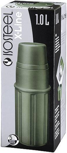 Thermoflasche Isosteel VA-9810P Oliv 1 l VA-9810P