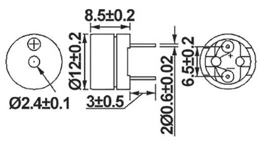 Signalgeber Geräusch-Entwicklung: 85 dB Spannung: 1.5 V 155090 1 St.