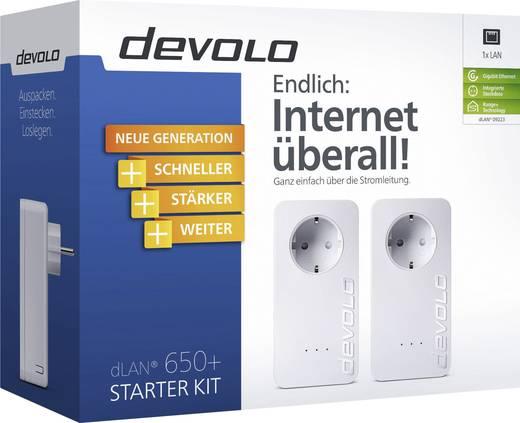 Powerline Starter Kit 600 MBit/s Devolo dLAN 650+