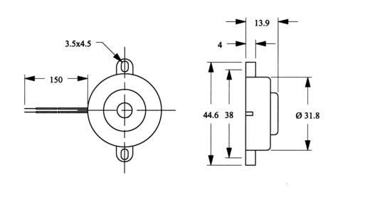Piezo-Signalgeber Geräusch-Entwicklung: 90 dB 185140 1 St.