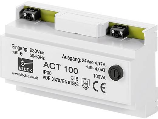 Sicherheitstransformator 1 x 230 V 1 x 24 V/AC 63 VA 2.625 A ACT 63 Block
