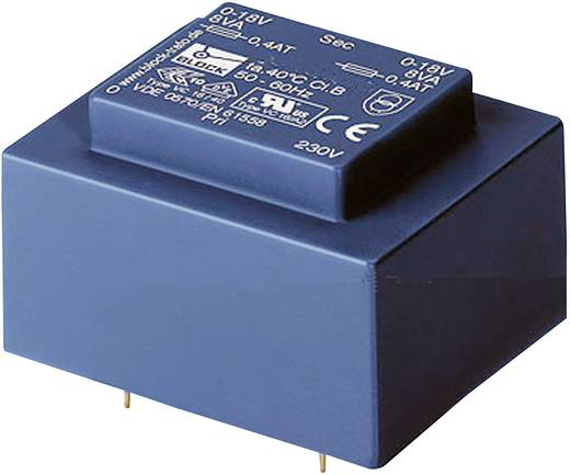 Printtransformator 1 x 230 V 2 x 9 V/AC 0.50 VA 27 mA VBEI 0,5/2/9 Block