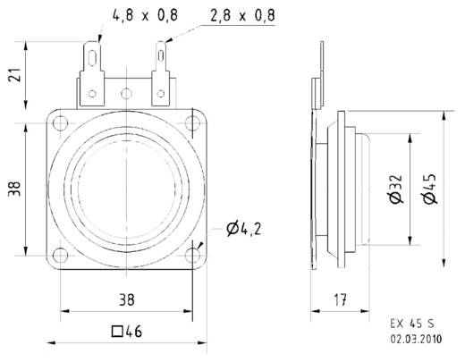 Visaton 4501 Miniatur Lautsprecher 10 W 1 St.