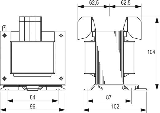 Sicherheitstransformator, Steuertransformator, Trenntransformator 1 x 230 V, 400 V 2 x 115 V/AC 250 VA 1.087 A STEU 250/
