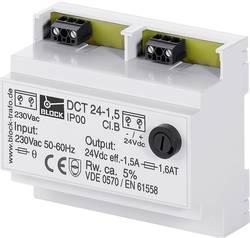 Napájecí zdroj na DIN lištu Block DCT 24-2,5, 24 V/DC, 60 VA