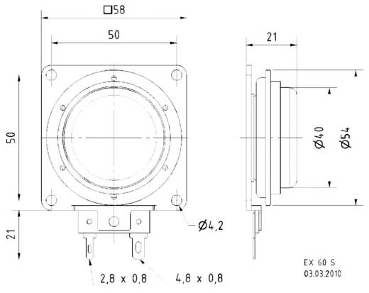 Visaton 4506 Miniatur Lautsprecher 25 W 1 St.