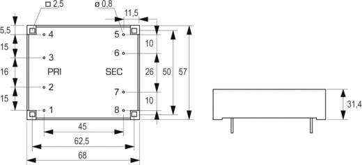 Block FL 24/12 Printtransformator 2 x 115 V 2 x 12 V/AC 24 VA 1 A