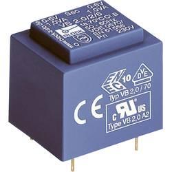 Transformátor do DPS Block EI 30/15,5, 230 V/2x 15 V, 2x 66 mA, 2 VA