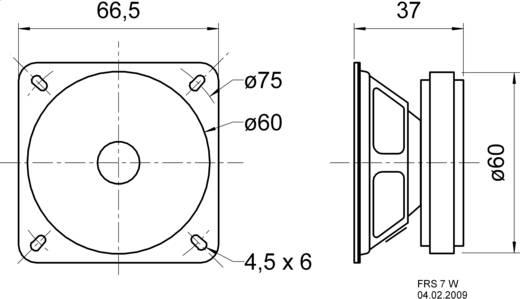 Miniatur Lautsprecher Geräusch-Entwicklung: 86 dB 8 W Visaton 2017 1 St.