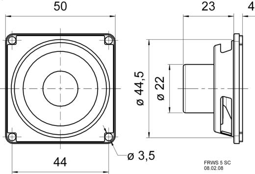 breitbandlautsprecher 5 cm magnetisch abgeschirmt. Black Bedroom Furniture Sets. Home Design Ideas