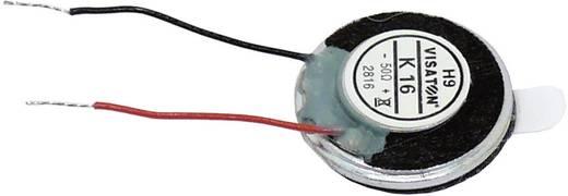 Miniaturlautsprecher 16 mm Geräusch-Entwicklung: 71 dB 50 Ω Nennbelastbarkeit: 0.5 W 1005 Hz Inhalt: 1 St.