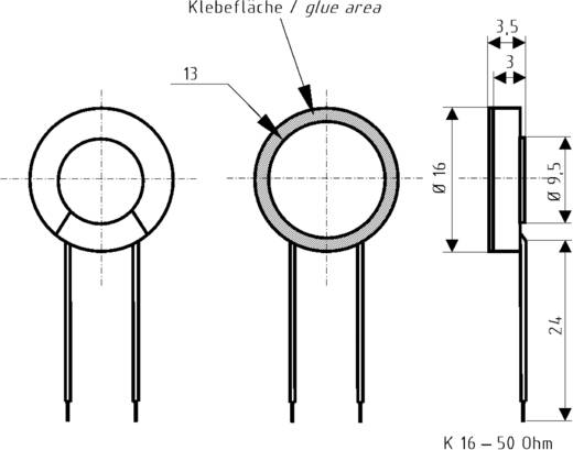 Miniatur Lautsprecher Geräusch-Entwicklung: 71 dB 0.500 W Visaton 2816 1 St.