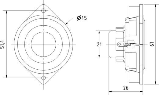 Miniatur Lautsprecher Geräusch-Entwicklung: 79 dB 4 W Visaton 2240 1 St.
