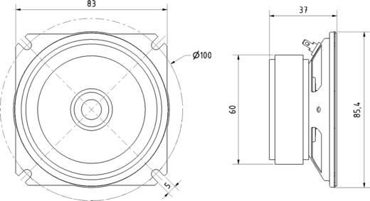 Breitbandlautsprecher 8 cm Geräusch-Entwicklung: 94 dB 8 Ω Nennbelastbarkeit: 20 W 550 Hz Inhalt: 1 St.