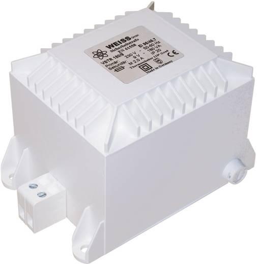 Sicherheitstransformator 1 x 230 V 2 x 9 V/AC 100 VA 5.56 A VSTR 100/99 Weiss Elektrotechnik