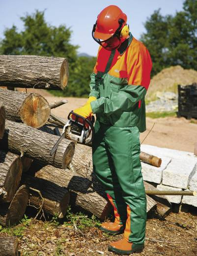 worky 4115 Schnittschutzhose Größe: 52 Orange, Grün